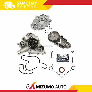 Timing-Chain-Kit-Water-Oil-Pump-Cover-Gasket-Fit-05-08-Chrysler-Dodge-Jeep-5-7
