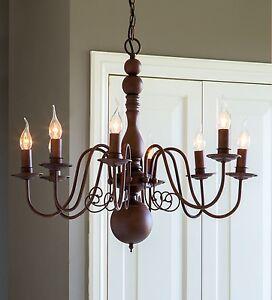 Lustre-Christina-marron-8-flammig-ovale-86x62cm-de-Light-amp-Living-NEUF