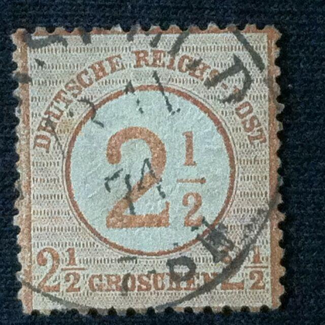 Germany  SC #27  Used  Sm. Thin  1874