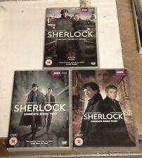 SHERLOCK HOLMES BBC TV SERIES 1-3 DVD BOX SET'S  SEASONS 1 2 3