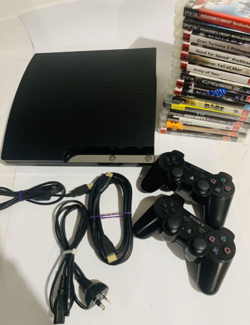 Sony PlayStation 3 Console Slim 320GB PS3 CECH-2502B + 15 Games COD MW1,2,3 Etc