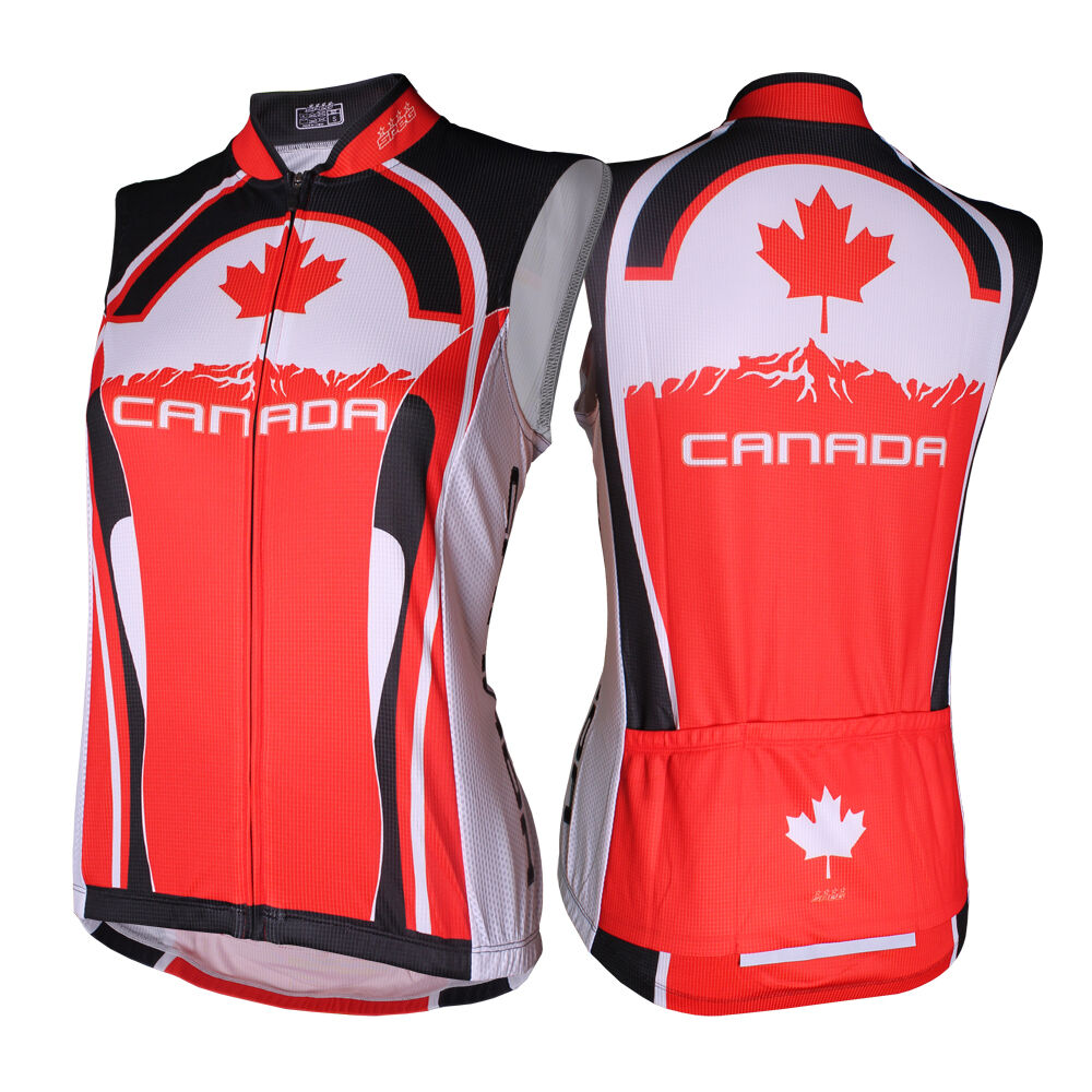 SPEG Canada Canadian Damenschuhe Sleeveless Cycling Jersey Jersey Cycling Full Zipper dcbb62