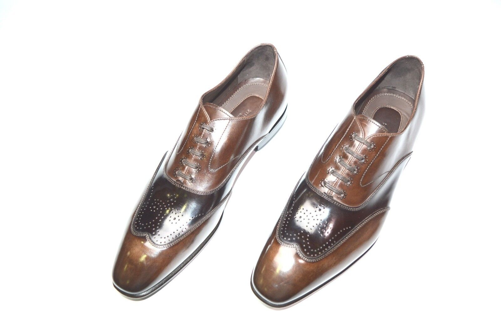 Nuevo De Lujo Cuero STEFANO RICCI Zapatos Talla nos 8.5 (A211)