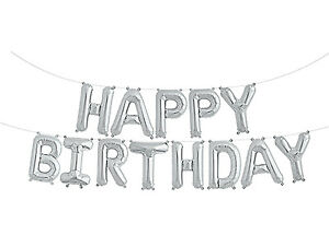 happy birthday balloon self inflating bunting 10 foil letters