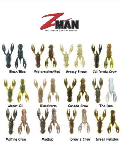 """Z Man TRD CrawZ Ned Rig Creature 2-1//2/"""" Choice of Colors"""
