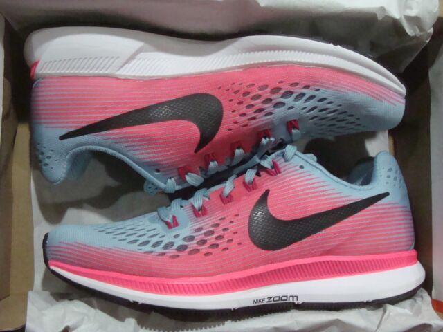 65c77ff2bb586 Nike Womens Air Zoom Pegasus 34 Racer Pink White Running Shoes Sz 10 ...