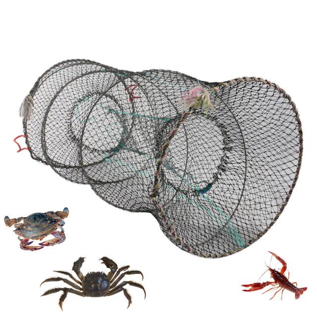 Fishing Net Cage Crab Fish Crayfish Lobster Shrimp Prawn Eel Live Baits Trap Net