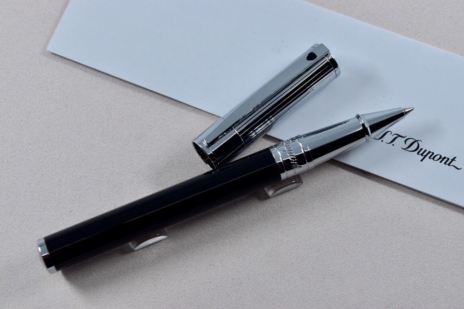 Neu st Dupont D-Initial Verchromt Goldsmith Kugelschreiber ST262201 | Bekannt für seine hervorragende Qualität