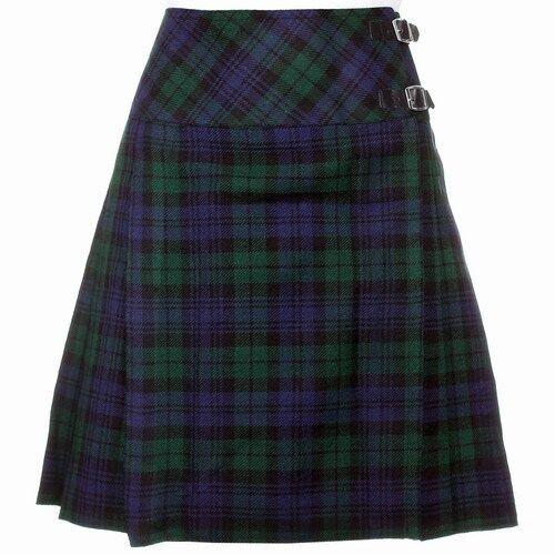 """New Ladies Scottish 20/"""" Knee Length Kilt Mod Skirt Range of Tartans Size 6-18"""