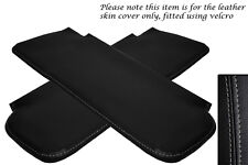 GREY STITCHING FITS CORVETTE 1968-1976 2X SUN VISORS LEATHER COVERS ONLY