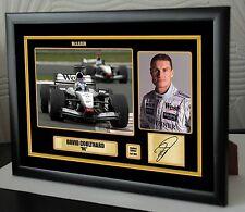 David Coulthard F1 McLaren Framed Canvas Print Signed Limited Edition.