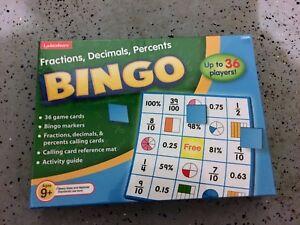 LAKESHORE-Fractions-decimals-percent-BINGO-FACTORY-SEALED