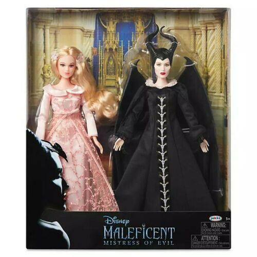 Disney Store Maleficent and Aurora Doll Set Movie Mistress of Evil by Jakks NEW