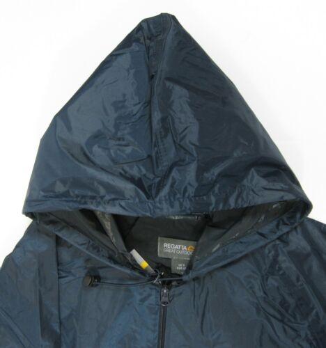 Adults Childrens Regatta Stormbreaker Windproof Waterproof Jacket Black Navy
