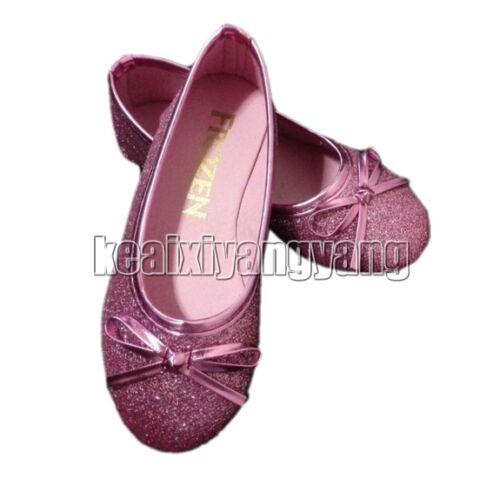 Children Princess Elsa Anna Cosplay Shoes Girls Kids Shoes US10-13 1 2 3 4 8 9