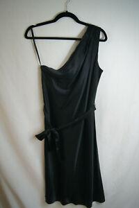 NWT-175-Banana-Republic-Silk-One-Shoulder-Little-Black-Cocktail-Dress-Size-10