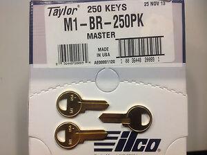 Schlage M1 Key Blanks Box 250 by JMA