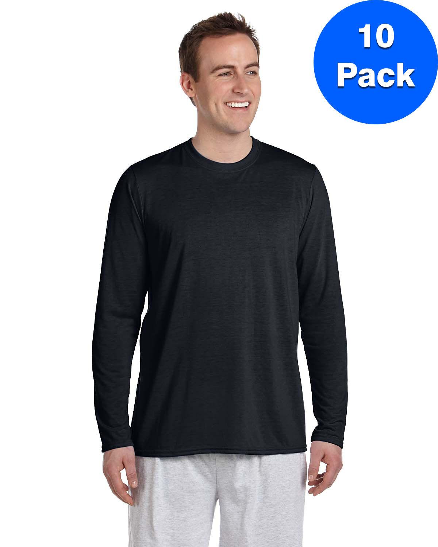 Gildan Mens Performance Long-Sleeve T-Shirt 10 Pack G424 All Größes