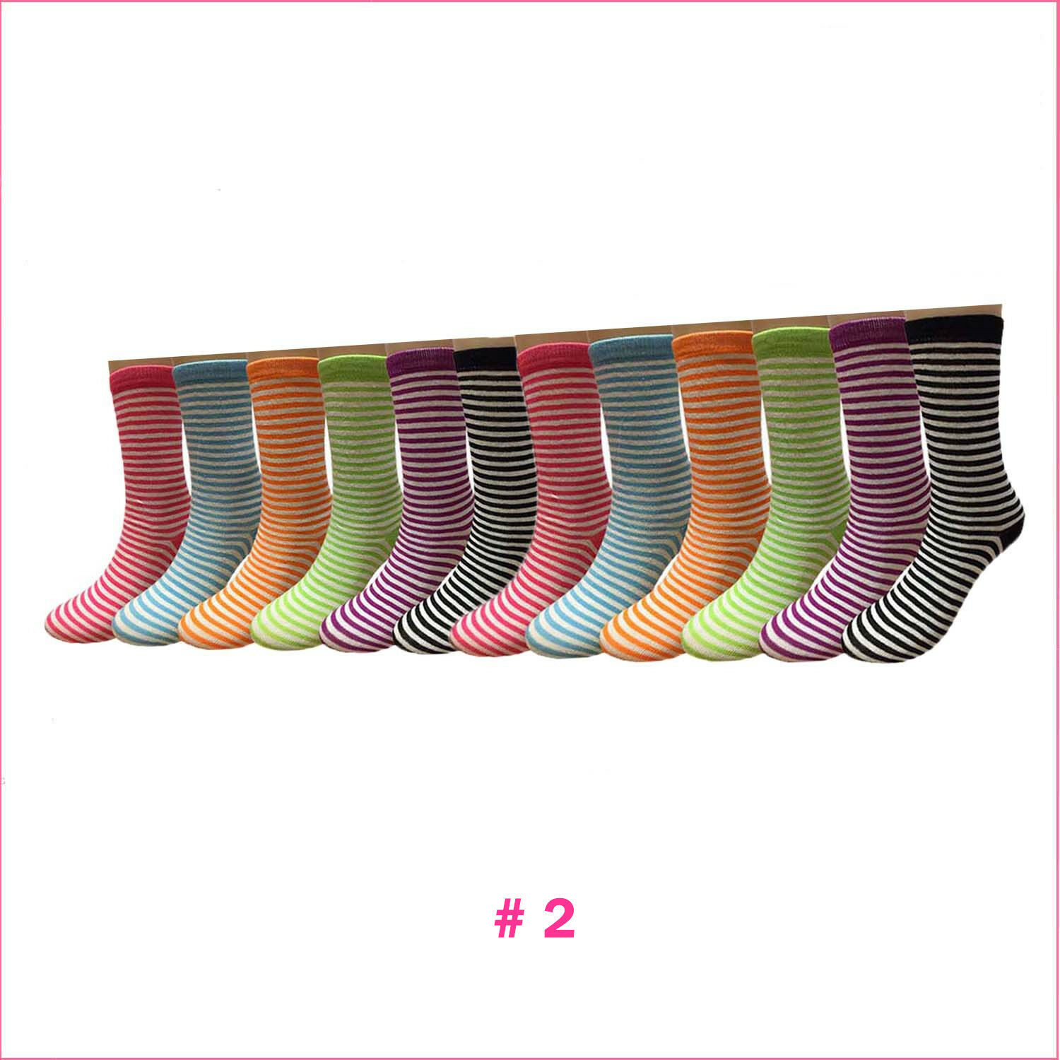 Image 21 - New-Lot-12-Pairs-Dozen-Womens-Solid-Assorted-Styles-Crew-Socks-Fashion-Size-9-11