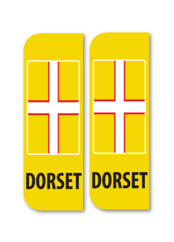 2 x DORSET Car Number Plate vinyl stickers