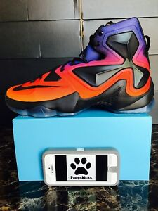 59f0123c15b Nike Lebron 13 XIII DB Doernbecher Black Orange Purple 838989-805 ...