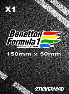 BENETTON F1 RACING TEAM Autocollant Schumacher Herbert Berger Alesi NANNINI Piquet