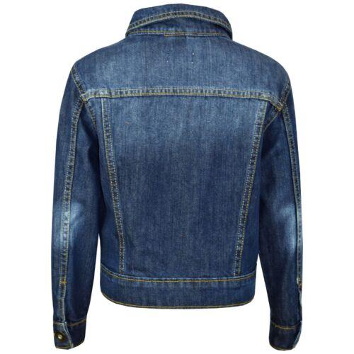 Kids Boys Denim Blue Designer Jackets Jeans Jacket Fashion Coat New Age 3-13 Yrs
