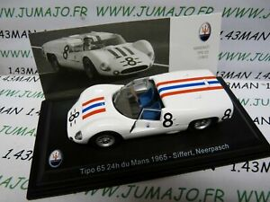 MAS32S-voiture-1-43-LEO-models-MASERATI-TIPO-65-24-heures-du-Mans-1965-Siffert