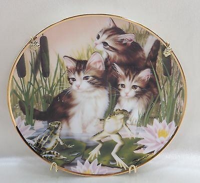 Collectors Plate Franklin Mint Playing Leap Frog Limited Edition w/Hanger