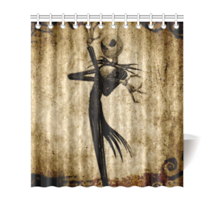 Image Is Loading The Nightmare Before Christmas Shower Curtain Bath Decor