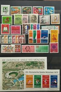 Germany-Federal-Frg-vintage-yearset-Yearset-1972-Mint-MNH-complete-Complete