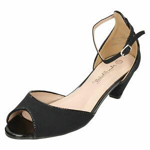 Anne-Michelle-F1R0588-Ladies-Black-Peep-Toe-Sandals-R33B