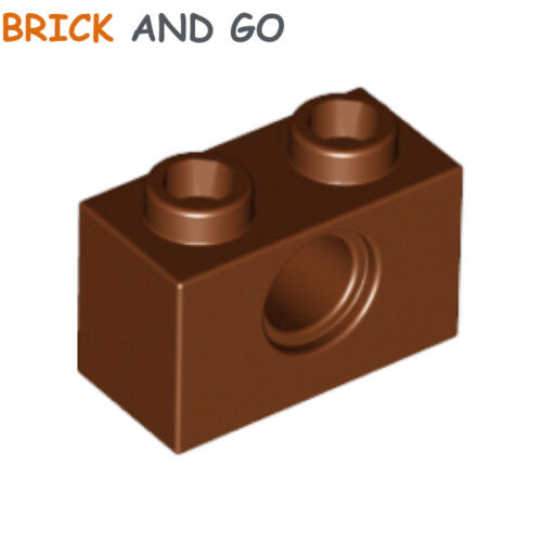 Technic Brick 1x2 Hole NEW NEW brown, brown 10 x LEGO 3700 Brick Hole
