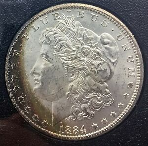 1884 Cc Carson City Morgan Dollar Toned Near Gem Gsa With