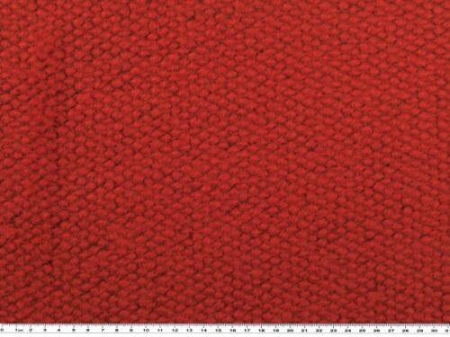 150cm Mantelwollstoff in Noppen-Grobstrickoptik rot