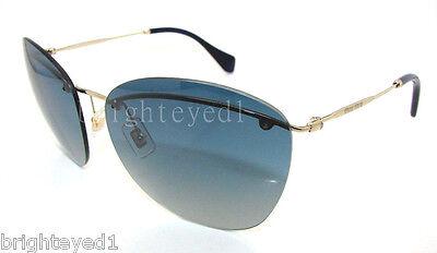 Authentic MIU MIU Pale Gold Sunglasses MU 54PS 54P - ZVN3A0 *NEW*