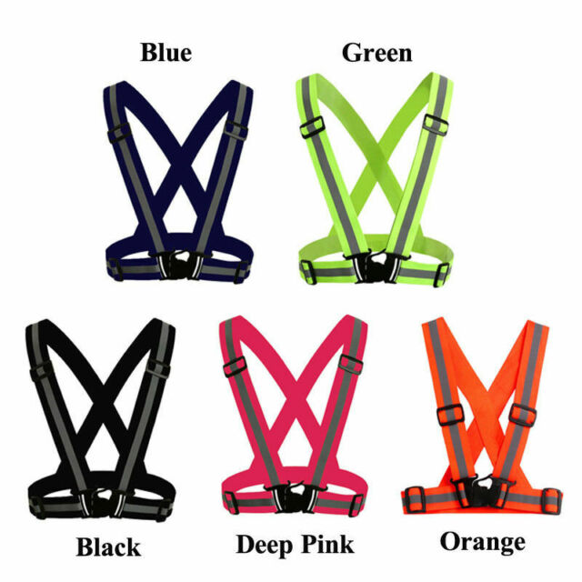 2x Reflective Led Light Arm Armband Strap Safety Belt For Night Running Cycling