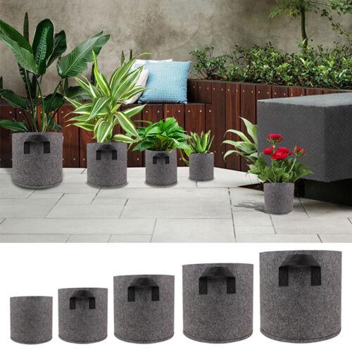1//2//5//7//10 Felt Fabric Pots Garden Plant Grow Bag Pouch Bag Container