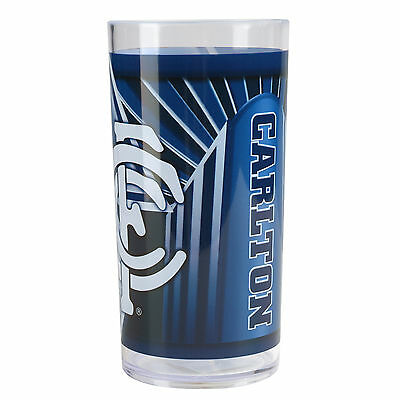 AFL Carlton Blues Plastic Drink Tumbler Cup CLEARANCE SALE Free Post