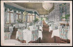 UNIONTOWN-PA-Summit-Hotel-Rose-Room-Restaurant-Dining-Room-Vintage-Postcard-Old