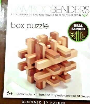 New Bamboo Benders 3 D Box Puzzle Made