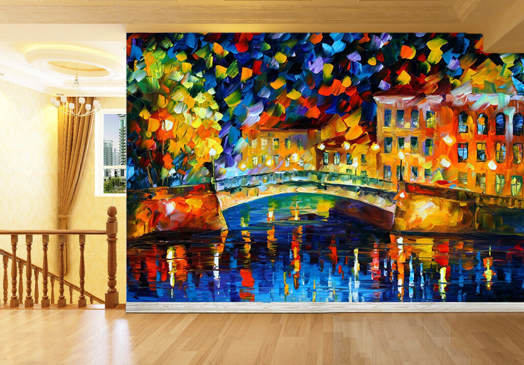 3D Oil Painting City 1774 Paper Wall Print Wall Decal Wall Deco Indoor Murals
