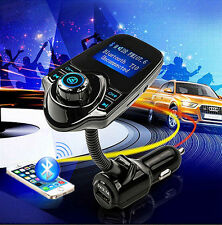 """Car 1.44"""" LCD Wireless FM Transmitter USB Charger Handsfree Bluetooth MP3 Player"""