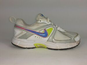 Nike-dart-9-white-Platinum-womens-youth-443393-100-size-5-5y-running-shoes