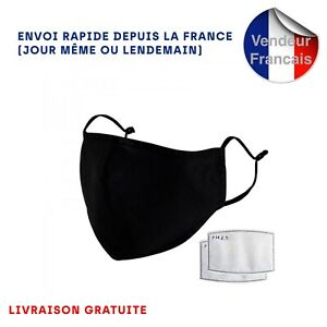 Masque tissu de protection Lavable Réutilisable Adulte Homme Ado transpirant