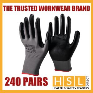 240-PAIRS-100-PREMIUM-NITRILE-COATED-SAFETY-WORK-GLOVES-GARDENING-BUILDERS