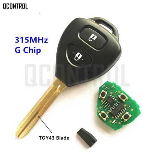 Remote Key for Toyota Camry Corolla Prado RAV4 Vios Hilux Yaris 315MHz G Chip