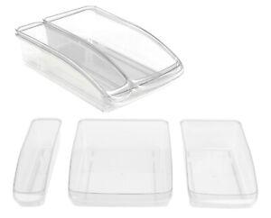 Clear-Plastic-Fridge-Organiser-Cupboard-Fruit-Veg-Rack-Box-Storage-Holder-Tray