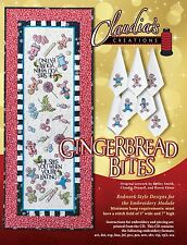 GINGERBREAD BITES MACHINE EMBROIDERY PATTERN CD, From Claudia's Creations NEW