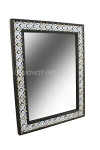 Wooden Mother Of Pearl Mirror Frame